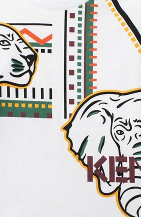 Детский хлопковый лонгслив KENZO разноцветного цвета, арт. KR10588-BB | Фото 3