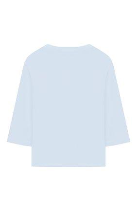 Детский хлопковый лонгслив KENZO голубого цвета, арт. KR10527 | Фото 2