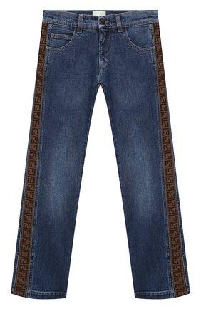 Детские джинсы FENDI синего цвета, арт. JMF316/A6IQ/8A-12+   Фото 1