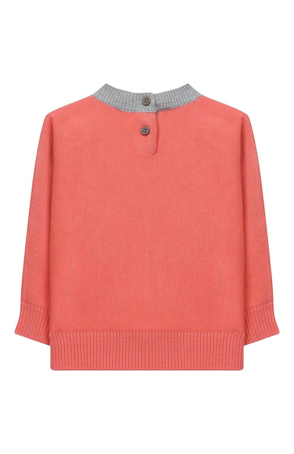 Детский шерстяной пуловер BURBERRY разноцветного цвета, арт. 8032584 | Фото 2