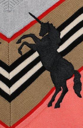 Детский шерстяной пуловер BURBERRY разноцветного цвета, арт. 8032584 | Фото 3