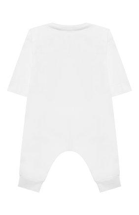 Детский хлопковый комбинезон BURBERRY белого цвета, арт. 8032750 | Фото 2