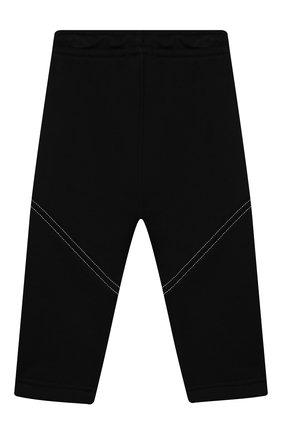 Детские хлопковые брюки BURBERRY черного цвета, арт. 8032835 | Фото 2