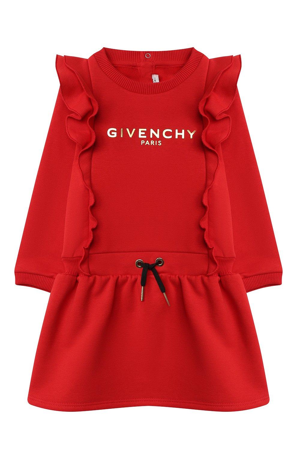 Женский хлопковое платье GIVENCHY красного цвета, арт. H02061 | Фото 1