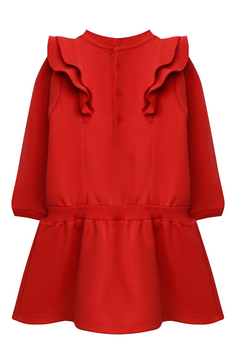 Женский хлопковое платье GIVENCHY красного цвета, арт. H02061 | Фото 2
