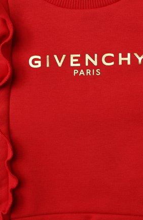 Женский хлопковое платье GIVENCHY красного цвета, арт. H02061 | Фото 3