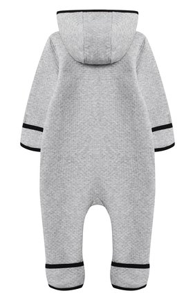 Детский хлопковый комбинезон GIVENCHY серого цвета, арт. H94050 | Фото 2