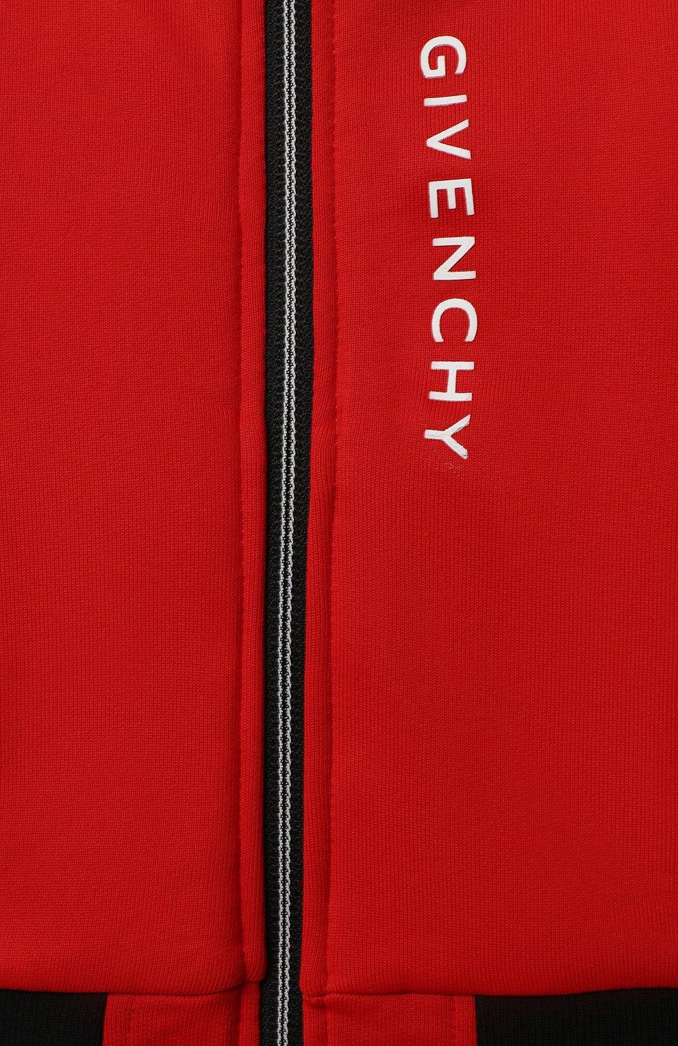 Детский толстовка GIVENCHY красного цвета, арт. H05132 | Фото 3