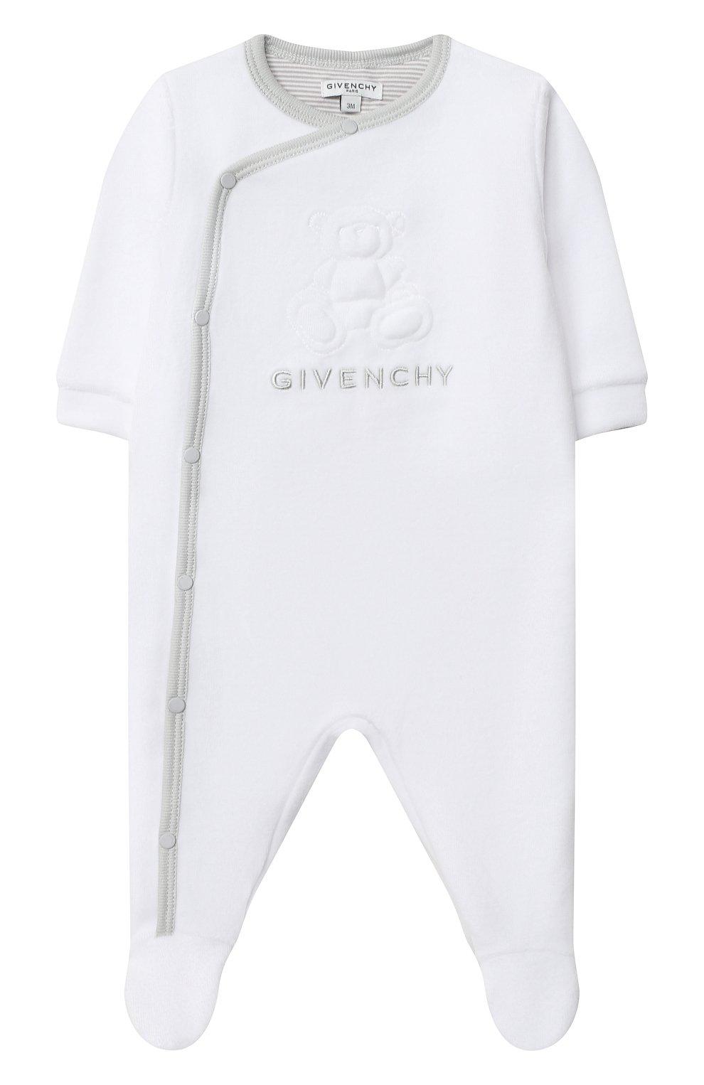 Детский пижама GIVENCHY белого цвета, арт. H98090 | Фото 2