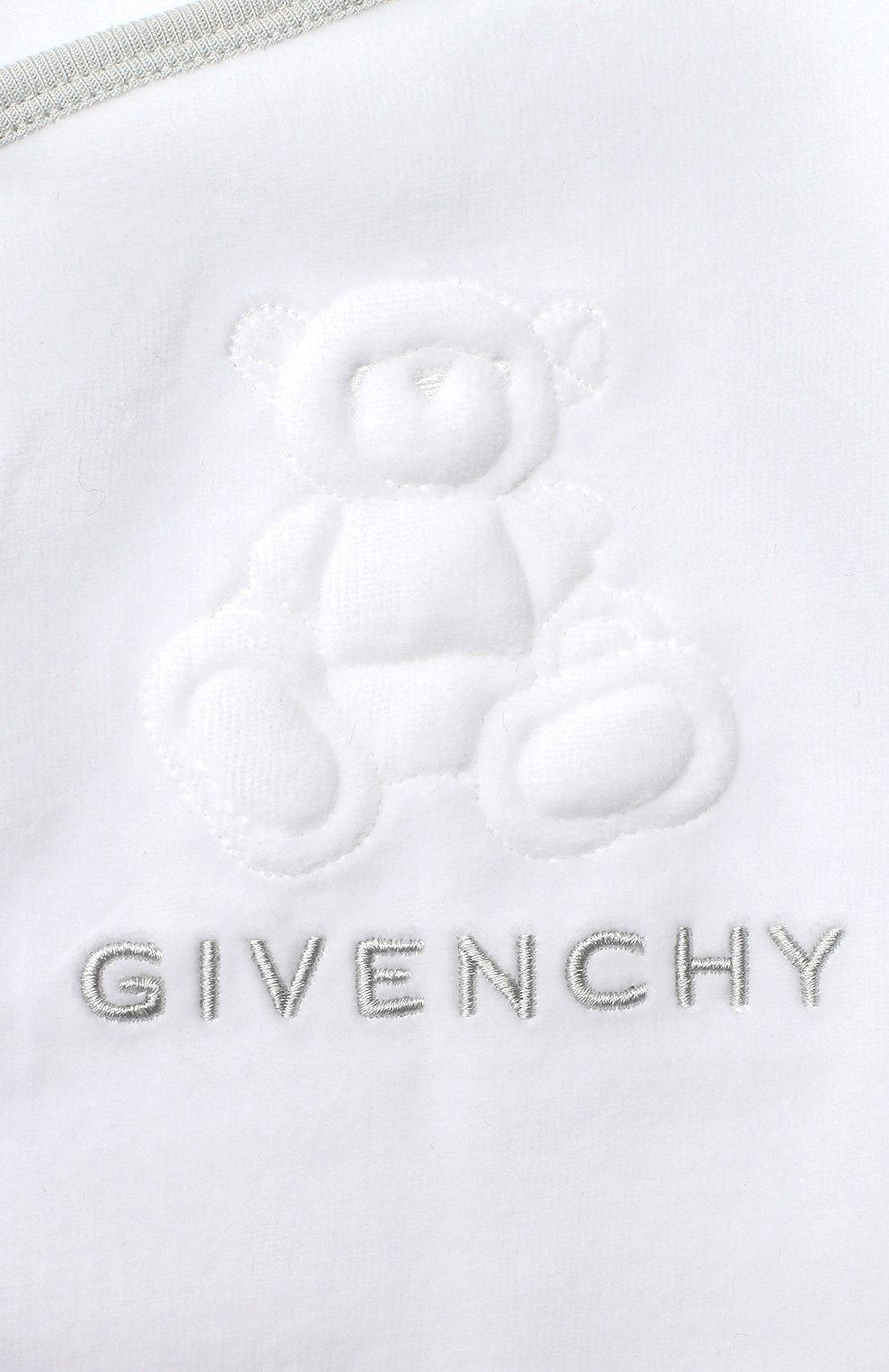 Детский пижама GIVENCHY белого цвета, арт. H98090 | Фото 6