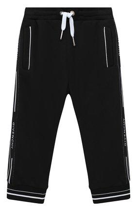 Детские брюки GIVENCHY черного цвета, арт. H04082 | Фото 1