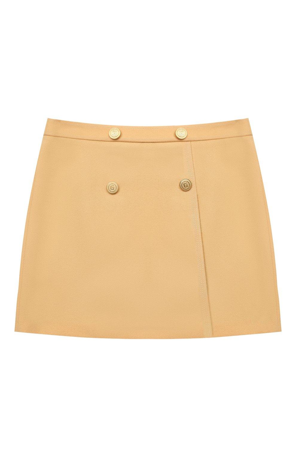Детская шерстяная юбка GUCCI бежевого цвета, арт. 628907/ZB810   Фото 1
