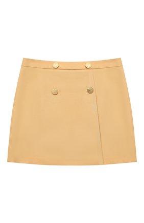 Детская шерстяная юбка GUCCI бежевого цвета, арт. 628907/ZB810 | Фото 1