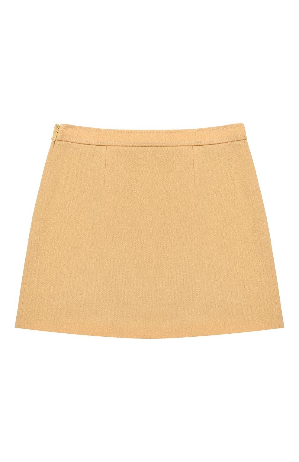 Детская шерстяная юбка GUCCI бежевого цвета, арт. 628907/ZB810   Фото 2