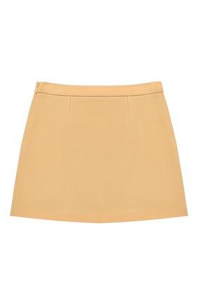 Детская шерстяная юбка GUCCI бежевого цвета, арт. 628907/ZB810 | Фото 2
