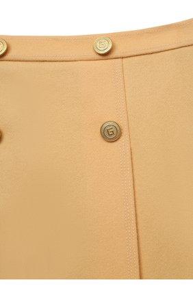 Детская шерстяная юбка GUCCI бежевого цвета, арт. 628907/ZB810   Фото 3