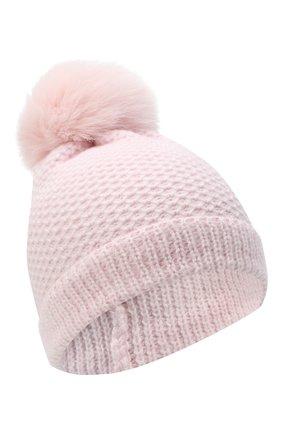 Детского кашемировая шапка GIORGETTI CASHMERE розового цвета, арт. MB1695/V0LPE/8A | Фото 1 (Материал: Кашемир, Шерсть)