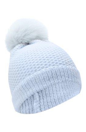 Детского кашемировая шапка GIORGETTI CASHMERE голубого цвета, арт. MB1695/V0LPE/8A   Фото 1