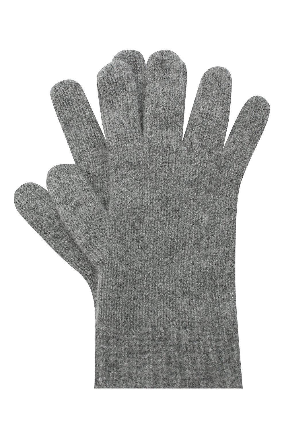Детские кашемировые перчатки GIORGETTI CASHMERE темно-серого цвета, арт. MB1698/RASATI/12A   Фото 1
