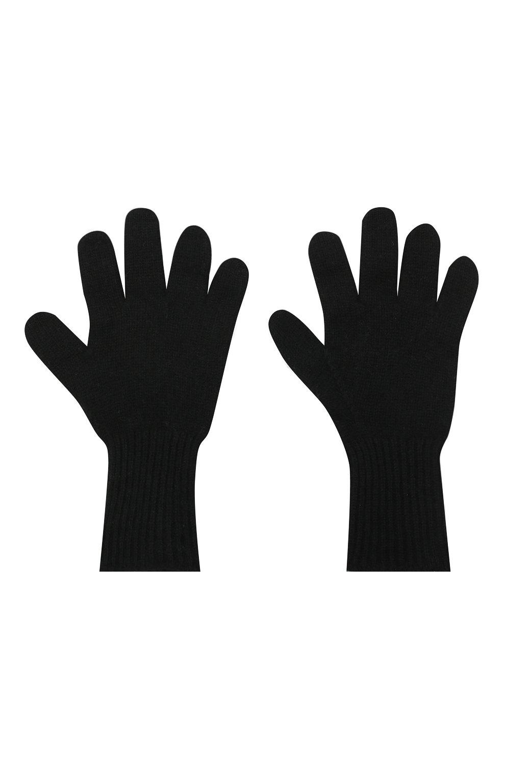 Детские кашемировые перчатки GIORGETTI CASHMERE черного цвета, арт. MB1699/12A | Фото 2