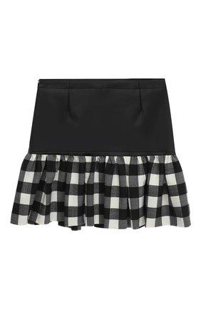 Детская юбка SIMONETTA черно-белого цвета, арт. 1N7000/NB390/10-14+ | Фото 1