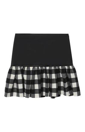 Детская юбка SIMONETTA черно-белого цвета, арт. 1N7000/NB390/10-14+ | Фото 2