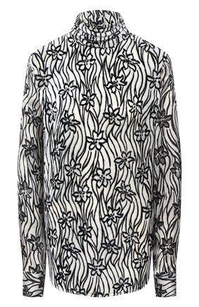 Женская блузка из вискозы и шелка DRIES VAN NOTEN белого цвета, арт. 202-10783-1277   Фото 1