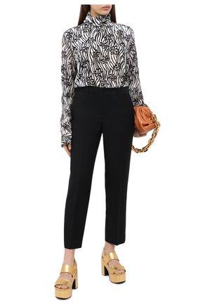 Женская блузка из вискозы и шелка DRIES VAN NOTEN белого цвета, арт. 202-10783-1277   Фото 2
