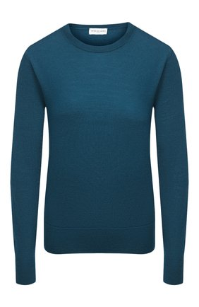 Женский шерстяной пуловер DRIES VAN NOTEN бирюзового цвета, арт. 202-11293-1700 | Фото 1