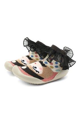 Детского домашние туфли COLLEGIEN разноцветного цвета, арт. 552I/18-35   Фото 1