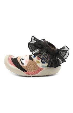 Детского домашние туфли COLLEGIEN разноцветного цвета, арт. 552I/18-35   Фото 2