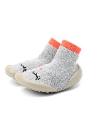 Детского домашние туфли COLLEGIEN серого цвета, арт. 553A/18-35 | Фото 1