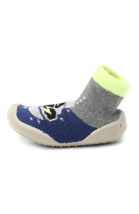 Детского домашние туфли COLLEGIEN синего цвета, арт. 553B/18-35 | Фото 2 (Материал внешний: Текстиль; Материал внутренний: Текстиль; Кросс-КТ: носочки)