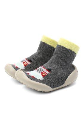 Детского домашние туфли COLLEGIEN серого цвета, арт. 554E/18-35 | Фото 1