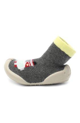 Детского домашние туфли COLLEGIEN серого цвета, арт. 554E/18-35 | Фото 2