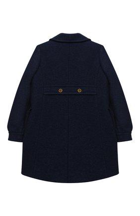 Детское шерстяное пальто GUCCI синего цвета, арт. 622836/XWALD   Фото 2