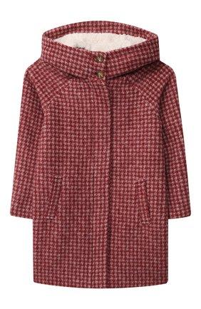 Детское шерстяное пальто CHLOÉ красного цвета, арт. C16373 | Фото 1