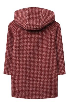 Детское шерстяное пальто CHLOÉ красного цвета, арт. C16373 | Фото 2