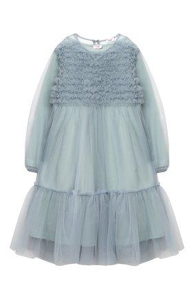 Детское платье IL GUFO голубого цвета, арт. A20VL430H0018/5A-8A | Фото 1