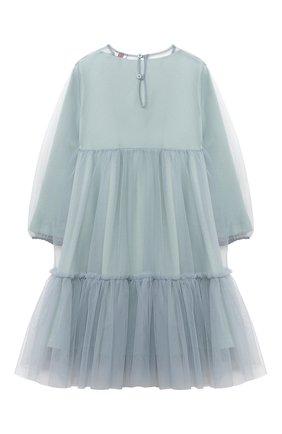 Детское платье IL GUFO голубого цвета, арт. A20VL430H0018/5A-8A | Фото 2