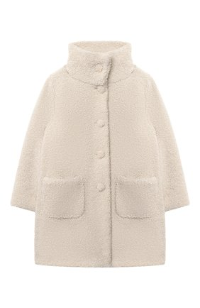 Детское пальто IL GUFO бежевого цвета, арт. A20GP271PE015/2A-4A   Фото 1
