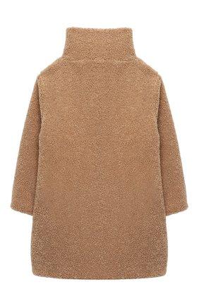 Детское пальто IL GUFO бежевого цвета, арт. A20GP271PE015/2A-4A   Фото 2