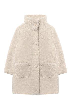 Детское пальто IL GUFO бежевого цвета, арт. A20GP271PE015/5A-8A   Фото 1