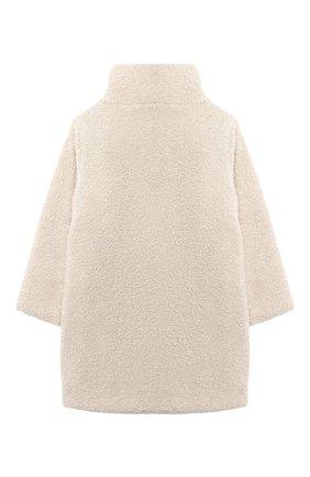 Детское пальто IL GUFO бежевого цвета, арт. A20GP271PE015/5A-8A   Фото 2