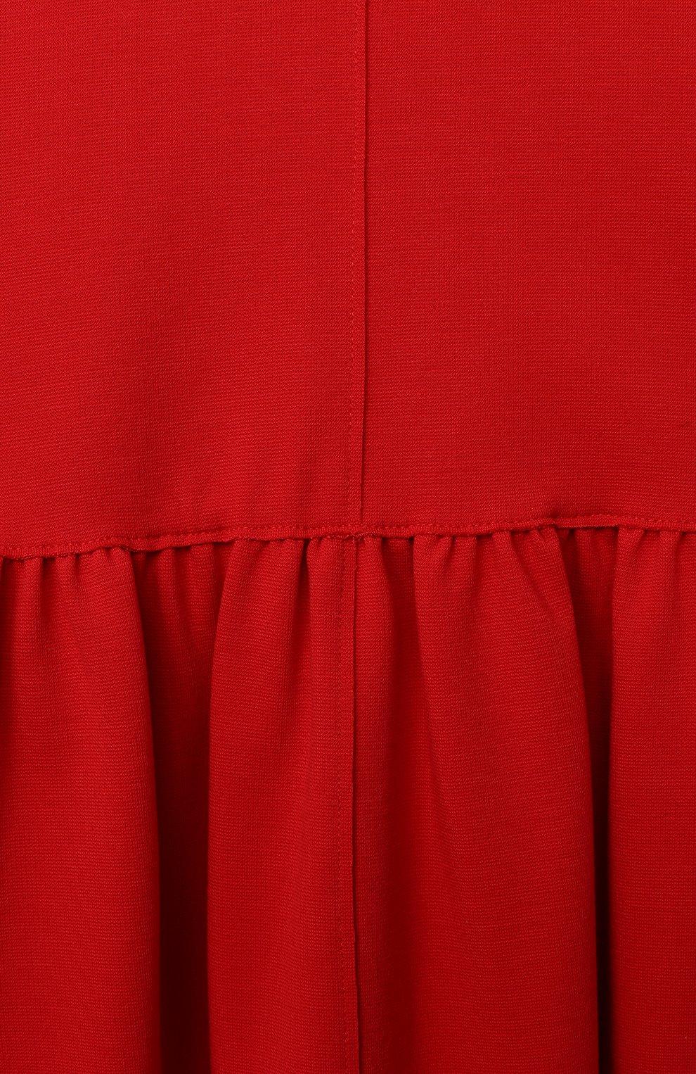 Детское платье IL GUFO красного цвета, арт. A20VM597M0041/5A-8A | Фото 3 (Рукава: Короткие; Случай: Повседневный; Материал внешний: Вискоза; Девочки Кросс-КТ: Платье-одежда)