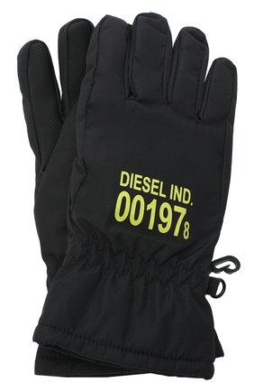 Детские перчатки DIESEL черного цвета, арт. 00J52V-KXB4V | Фото 1