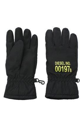 Детские перчатки DIESEL черного цвета, арт. 00J52V-KXB4V | Фото 2