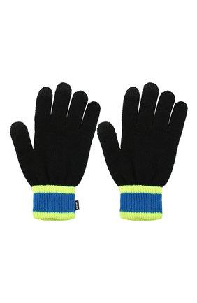 Детские перчатки DIESEL черного цвета, арт. 00J52E-KYAQZ | Фото 2