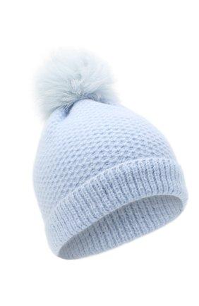 Детского кашемировая шапка GIORGETTI CASHMERE голубого цвета, арт. MB1695/V0LPE/12A   Фото 1