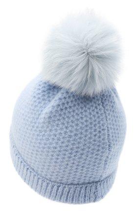 Детского кашемировая шапка GIORGETTI CASHMERE голубого цвета, арт. MB1695/V0LPE/12A   Фото 2